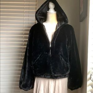 Forever 21 Night Collection black bomber jacket S